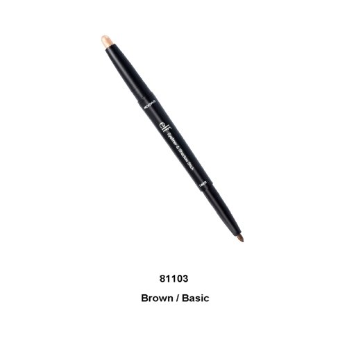 e.l.f. Cosmetics Eyeliner and Eyeshadow Stick, Dual-Ended Twist-Up Stick Creates the Perfect Smoky Eye, Brown & Basic Shade