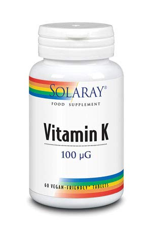 VITAMINA K1, 100 mcg. 60 comp. SOLARAY (PACK 3 UDS): Amazon.es: Salud y cuidado personal
