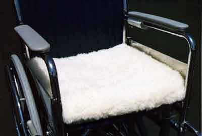 amazoncom mediwool wheelchair cushion cover 19x19 wool fleece health u0026 personal care - Chair Cushion Covers