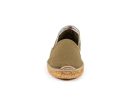 Viscata Mens Sitges Canvas Espadrillas Autentiche E Originali Made In Spain Cactus Green