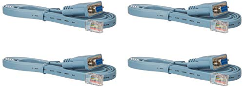 Cisco Compatible 6 ft. Rollover Console Cable RJ45 Male to DB9 Female 72-3383-01 (4PACK) ()