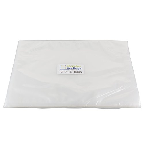 """100 ChamberVacBags 3-Mil 12"""" X 18"""" Vacuum Chamber Pouches fo"""