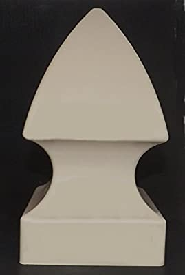 """Tan Gothic Vinyl Post Cap for 5"""" Square Post to Enhance and Distinguish your fence or yard!"""