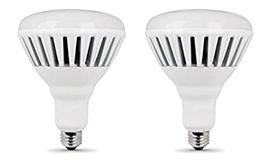 Feit BR40/DM/2500/3K/LED Model 2500 Lumen 3000K Dimmable LED BR40, Dimmable, No Mercury, Approximately 25000 Hours Lifespan, Pack of 2