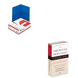 KITHOUH21079UNV56601 - Value Kit - HOUGHTON MIFFLIN COMPANY American Heritage Office Spanish Dictionary (HOUH21079) and Universal Two-Pocket Portfolio (UNV56601)