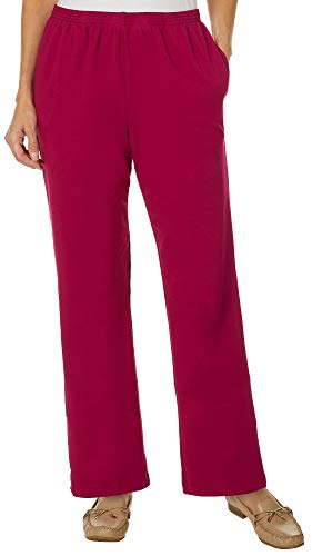 Alfred Dunner Women's Royal Jewels French Terry Proportioned Pants (Ruby, 16 Short) (Dunner Blazer Alfred)