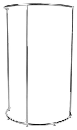 Displays2go APRK425CTF Half Circle Adjustable Clothing Rack, 48 to 72-Inch, Chrome Steel by Displays2go