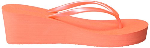 O'Neill Fw Wedge - Chanclas Mujer Pink (Fluoro Peach)