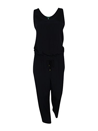 Ralph Lauren Scoop Neck Sleeveless Jumpsuit 12 Black by RALPH LAUREN