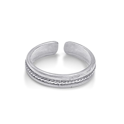 Hypoallergenic 925 Sterling Silver Toe Ring Collection One Size Fits All Super (Butterfly Silver Toe Ring)