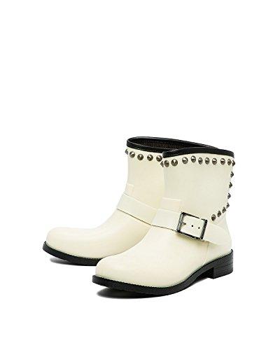 Diesel - Women's Wellington Boots Stud-ME - Off-White (Transparent Yellow T2095), 6 - Diesel Women Footwear