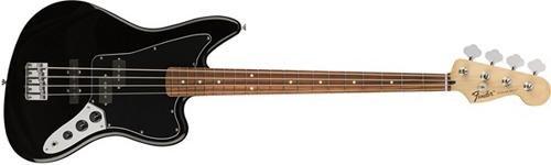 Fender Jaguar Tremolo (Fender Standard Jaguar Electric Bass Guitar - Pau Ferro Fingerboard, Black)