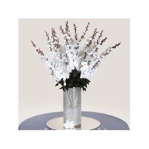 18 to 27 White Delphinium Stems Filler Silk Wedding Flowers Bouquet Centerpieces 63