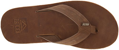 Flip Waterproof Soft Leather Voyage with Real Le Footbed Cushion Brown Reef Premium Bronze for Flops Men Sandal Mens YqZxn40