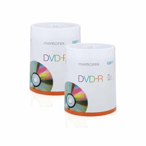 Memorex DVD-R 4.7GB Multipack 2 - 100 Pack Spindles, 200 discs total