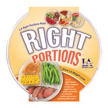 LA Right Portions Plate by LA Weight Loss