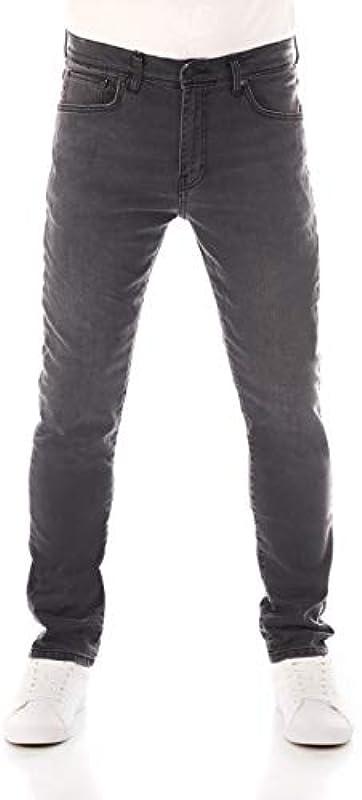 LTB Męskie Jeans Louis Y - Skinny Fit - Grau - Grey Simple Wash Stretchjeans Röhrenjeans 99,5% Baumwolle W28-W38: Odzież