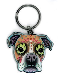 Cali's, Pretty In Ink Boxer, Officially Licensed Artwork - Metal Keychain