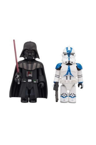 KUBRICK Star Wars DARTH VADER & 501st LEGION CLONE TROOPER ABS & PVC painted action figure (2 Pack) ()