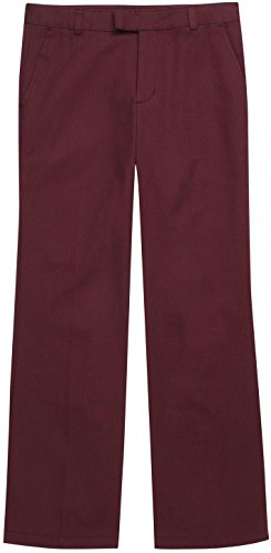 French Toast School Uniforms Girls Adjustable Waist Flat Front Pants - K9295 - Burgundy, ()