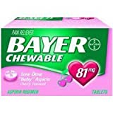 31284000000 Bayer Aspirin Child Chewable Cherry 36 Per Bottle by Bayer Consumer Products -Part no. 31284000000