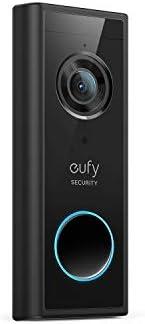 Carillon Wi-FI autonomie de 120 Jours sans Frais mensuels eufy Security d/étection des Personnes Blanc Audio bidirectionnel Ensemble Sonnette vid/éo Wi-FI r/ésolution de qualit/é 1080p