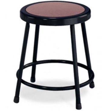 National Public Seating 18'' Home Office Garage Shop Stool with Hardboard Seat Black by National Public Seating by National Public Seating