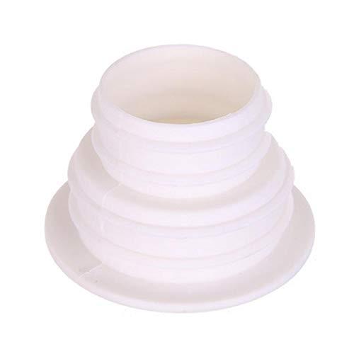 Sonita3008 Toilet Seal Ring Silicone Pipe Deodorization Sealing Ring Toilet Washing Cistern Sewer Floor Drainer 6X3.9Cm (Toilet Brush Nickel Jado)