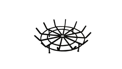 Round Spider Grate for Outdoor Fire Pit (24'' Diameter 4'' Legs) by B & M SALES
