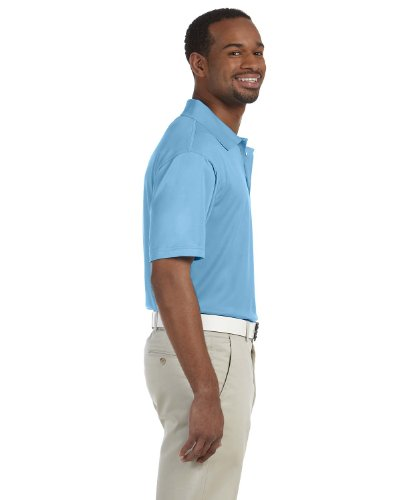 HARRITON Herren Polytech Short Sleeve Polo Shirt Gr. X-Large, Hellblau