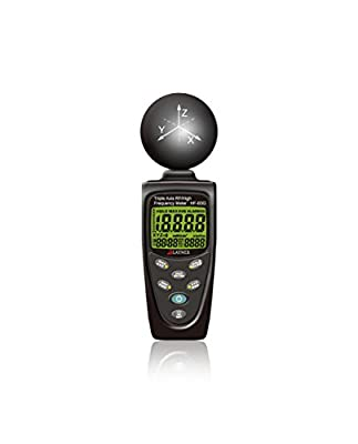 HF-B3G Triple Axis HF RF Power Meter Analyzer and Detector Measuring EMF Radiation-Cell Phones-Smart Meters-Cell Towers-WiFi-Microwave-Blouetooth-Calibrated-Used for EMF Home Inspections-Free Support