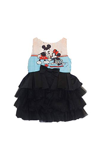 Disney Collection By Tutu Couture Minnie & Mickey Mouse Satin & Tulle Layered Classic Tutu Dress (5) Black (Disney Kids Couture)