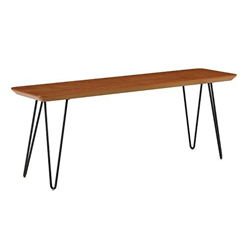 "WE Furniture AZB56HPDWT Dining Bench 13"" L x 48"" W x 18"" H Walnut"