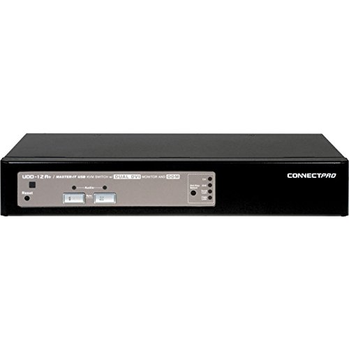 ConnectPRO Master-IT UDD-12A + KIT - KVM/audio switch - 2 ports - Desktop, Black (UDD-12A-PLUS-KIT) by ConnectPRO