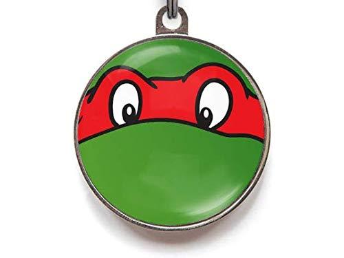 Rojo Tortuga Ninja ID etiqueta | personalización gratuita ...