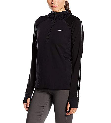 Nike Women's Dri-FIT Sprint Fleece 1/2 Zip Hoodie (Medium, Black)