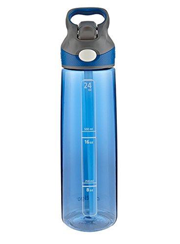 (Contigo AUTOSPOUT Straw Addison Water Bottle, 24 oz, Monaco)