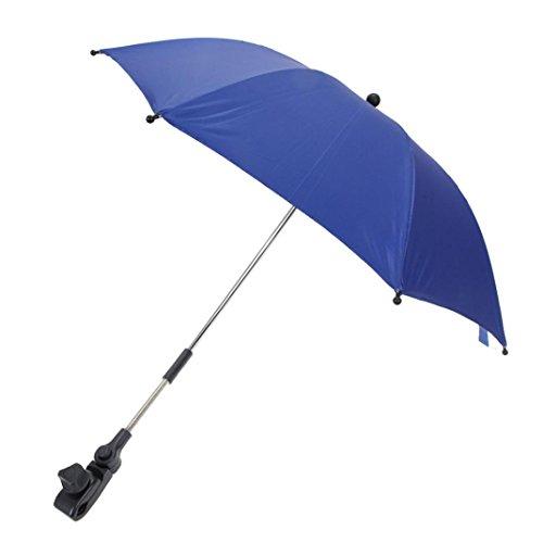 Likero Baby Carriage Stroller Sun Shadow Shade Baby Cart Mount Holder Umbrella (Blue)