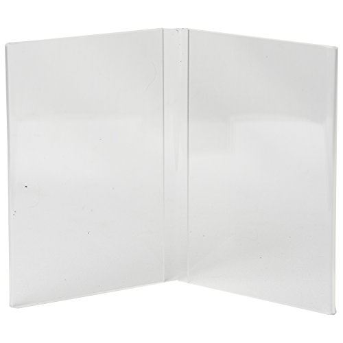 Clear-Ad - LHM-810 - Acrylic 2-Sided Restaurant Menu Holder Table Stand 8x10 – 2-Panel Photo Display Frame & Sign Holder (Pack of 15) by Clear-Ad (Image #1)
