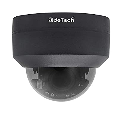 PTZ POE 5MP Security IP Camera Mini Dome Surveillance High Speed H.265 Camera Waterproof IR Night Vision Support 4X Optical Zoom by JideTech