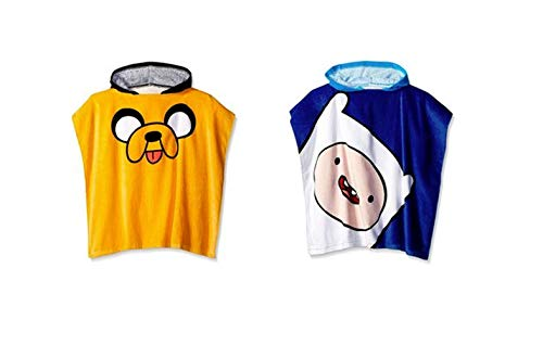 Intimo Inc Adventure Time Jake and Finn Hooded Towel Poncho Set