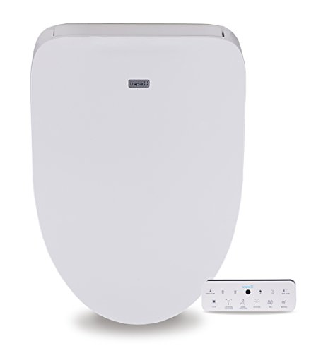 Divine UB4800 Elegant and Luxurious Advanced Electronic Bidet Toilet Seat with Sleek Wireless Touchscreen Remote and Cozy Heated Seat, Elongated White by BioBidet