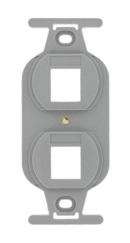 Leviton 41087-2GP QuickPort Duplex Type 106 Insert, 2-Port, Grey