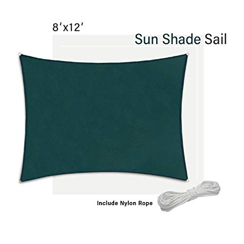 SunnyRoyal SC1620 Sun Shade Sail for Patio Backyard Deck UV Block Fabric Rectangle Beige, 16' x 20', Without Kit