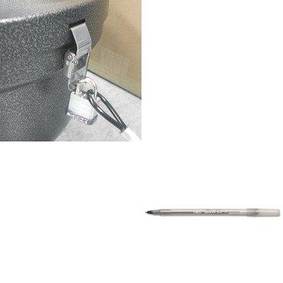 Smokers Oasis Lock Kit (KITBICGSM11BKEXCSRSLCKKIT - Value Kit - Ex-cell Smokers' Oasis Lock Kit (EXCSRSLCKKIT) and BIC Round Stic Ballpoint Stick Pen (BICGSM11BK))