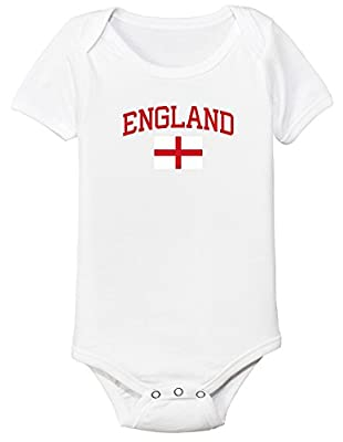 England Bodysuit Soccer Infant Baby Girls Boys Personalized Customized Name and Number