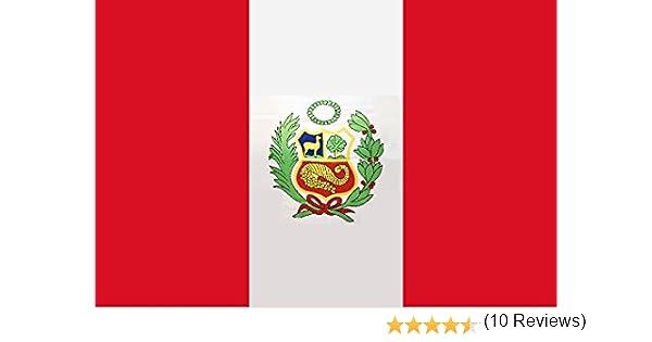 Gran Bandera de Peru 150 x 90 cm Satén Durobol Flag: Amazon.es: Deportes y aire libre