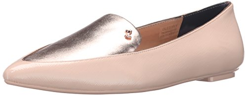 Ted Baker Women's Oleshky Pointed Toe Flat, Light Pink/Metallic, 9 M US