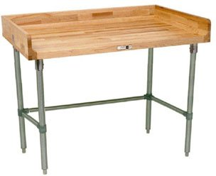 Work Table w Coved Riser Rear (108 in. x 24 in. - Stainless Steel)