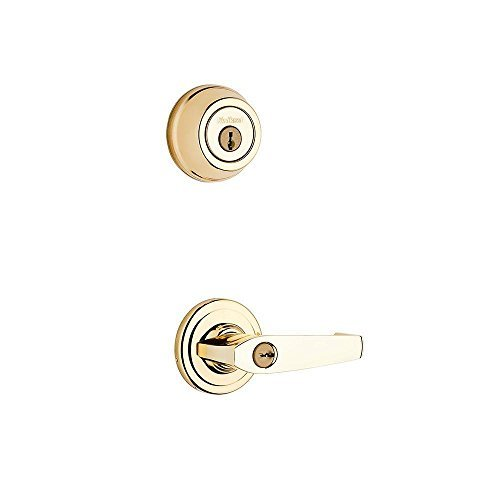 Kwikset 506KNL 3 23/4NFL 3028 UL 506KNL-3 Polished Brass Keyed Entry Kingston Residential/Light Commercial Metal Interconnected Device Featuring the Kingston Keyed Lever by Kwikset